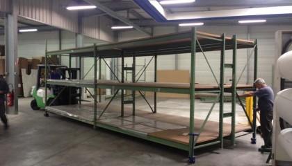 Déplacement de Racks de stockage et de machine industriel dans votre usine